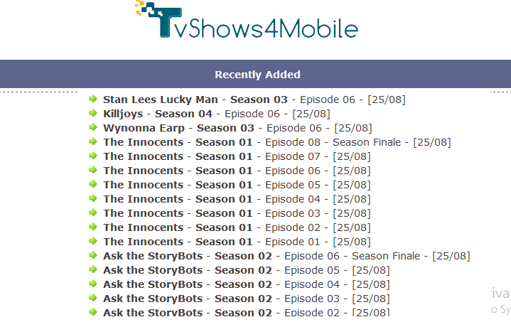 download hd tv series for mobile